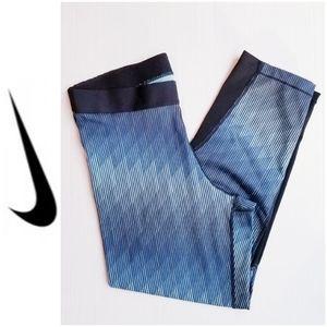 Nike Pro Cool Training Capri Blue Size Large